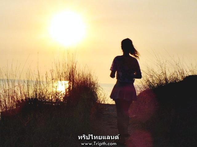 พระอาทิตย์ตก ช่องเขาขาด เกาะสีชัง (1)