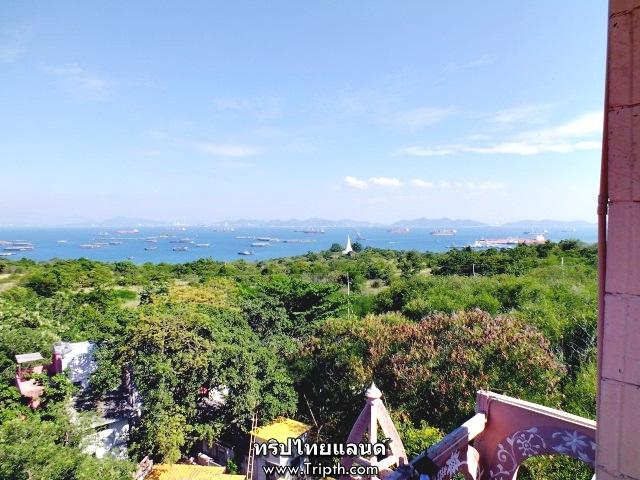 มองเห็นวิวทั่วเกาะสีชังเลย
