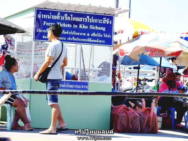 จุดซื้อตั๋วเรือไปเกาะสีชัง