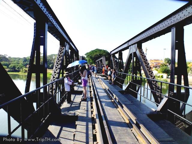 ด้านบนสะพานข้ามแม่น้ำแคว