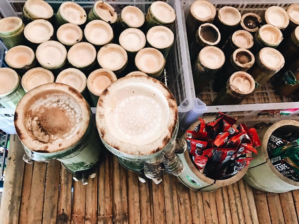 ถ้วยกาแฟมุ้งมิ้ง ทำจากกระบอกไม้ไผ่