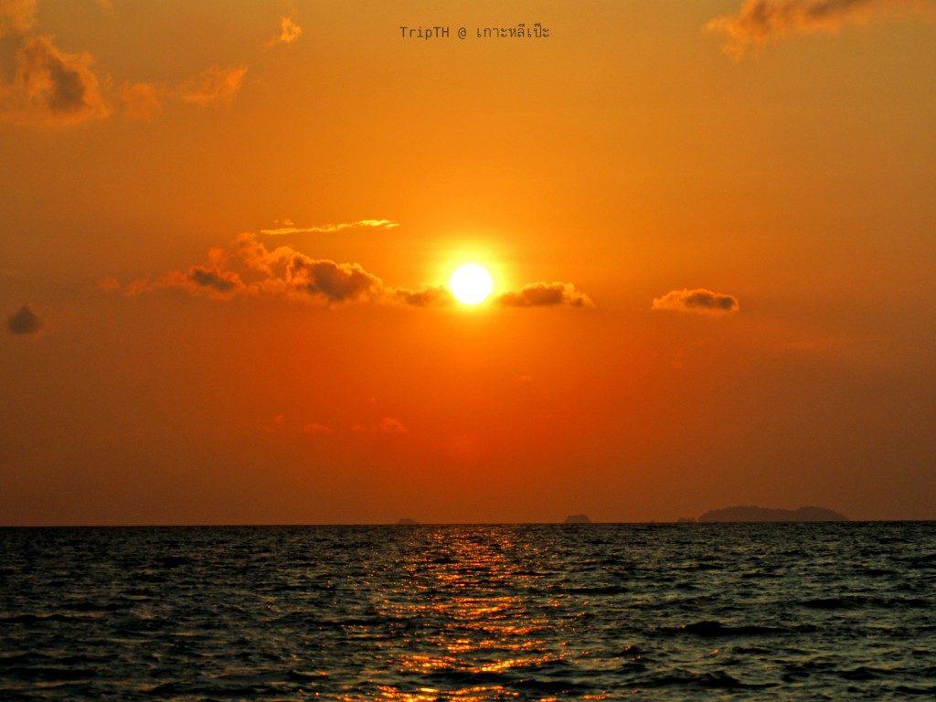 ชมพระอาทิตย์ตก เกาะหลีเป๊ะ