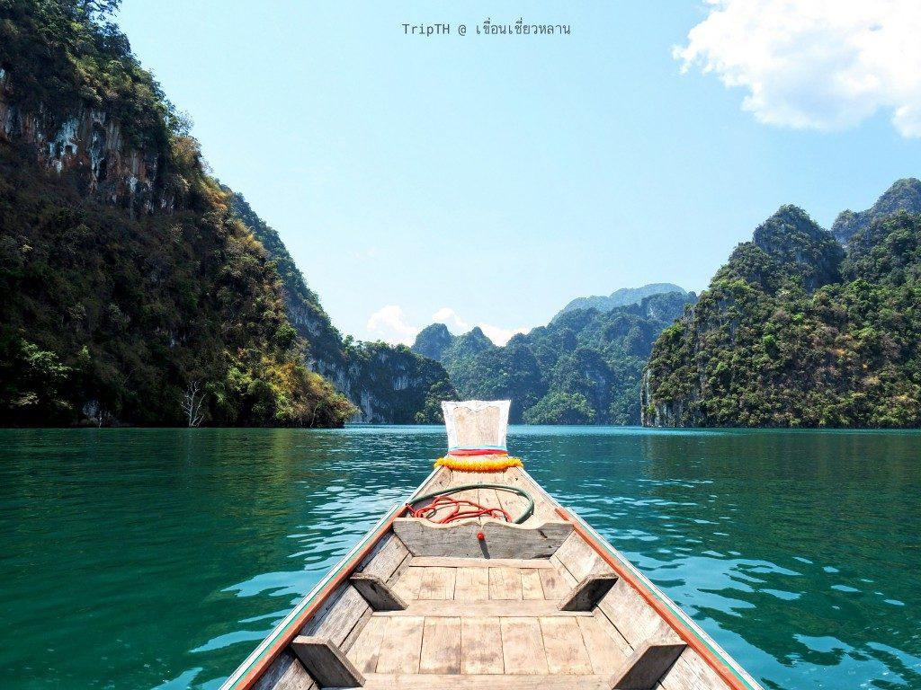 ล่องเรือ เที่ยวเขื่อนเชี่ยวหลาน (3)