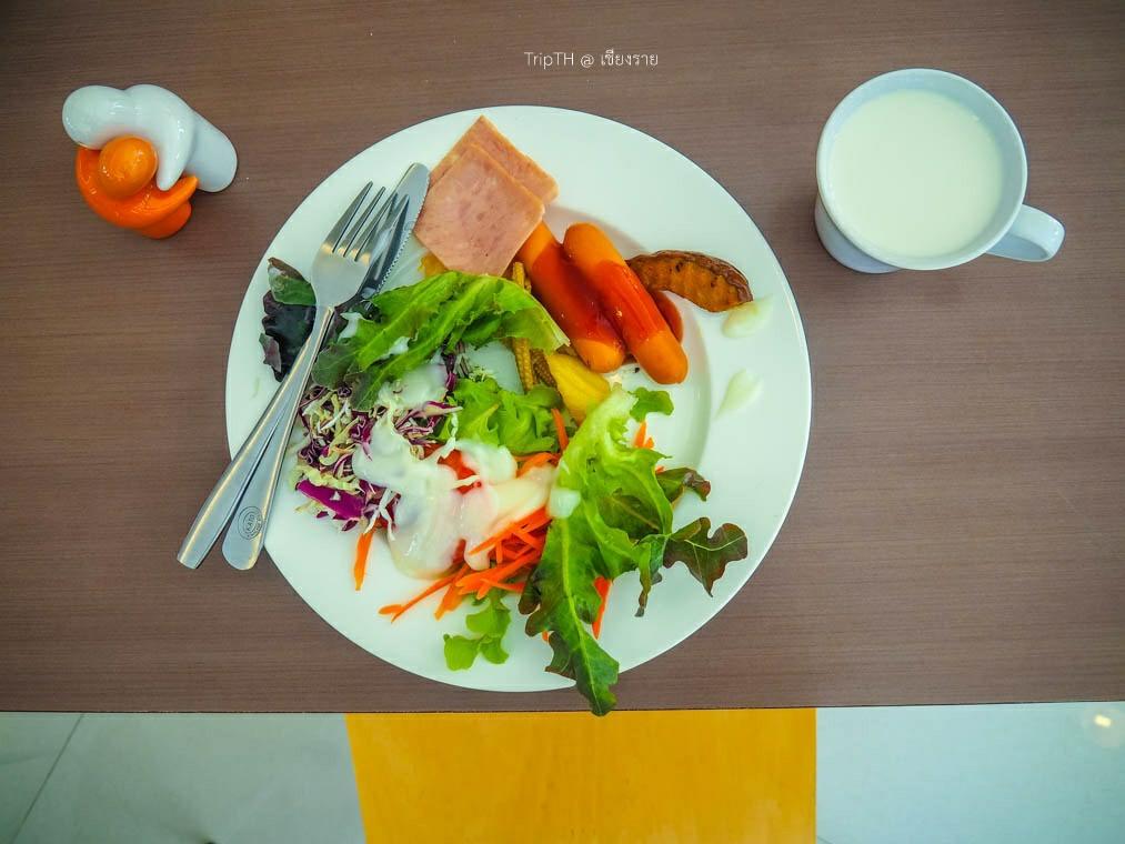 มื้อเช้า เดอ ฮัก โฮเทล
