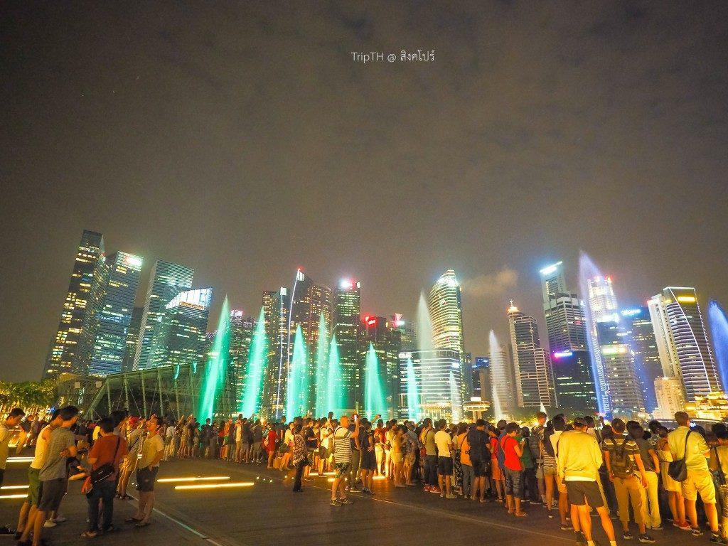 การแสดงน้ำพุ สิงคโปร์ (Wonder Full-Light & Water) Marina Bay (1)