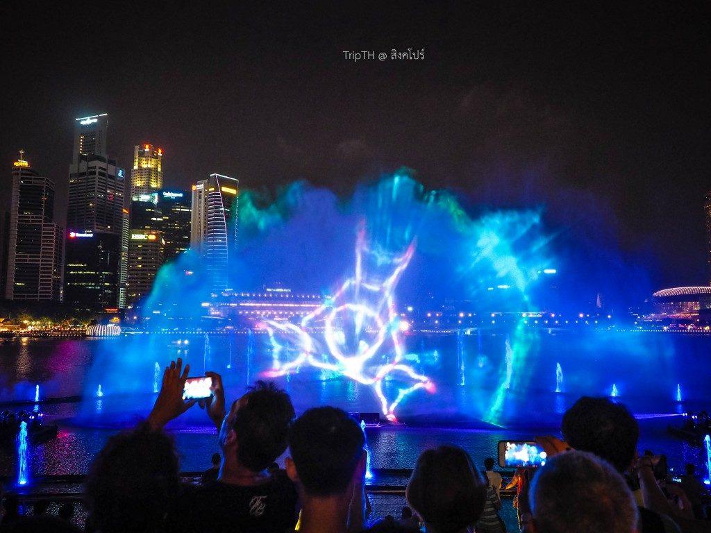 การแสดงน้ำพุ สิงคโปร์ (Wonder Full-Light & Water) Marina Bay (3)
